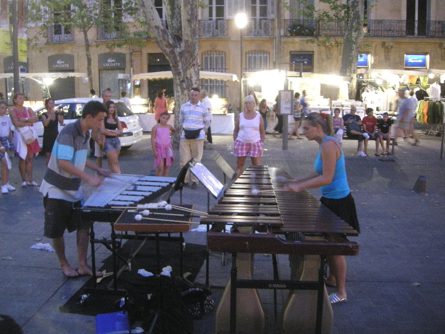 Muscians Play in Aix-en-Provence, France